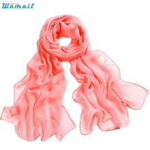Trendy Style Hot Sale 10 Colour Comfortable  Girls Women Long Soft Thin Wrap Lady Shawl Chiffon Beach Scarves 1pc