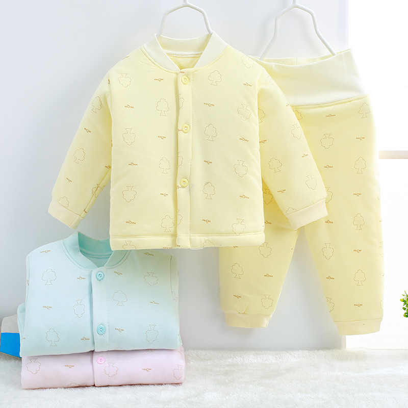 Winter Single breasted Cartoon adorable Boys Girls  Clothes Long Sleeve warm cotton Babys Sets AD0241-AD0245<br>