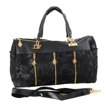 Women Vintage PU Leather Messenger Tote Bags Female Shoulder Bag Lace Organizer Crossbody Handbag