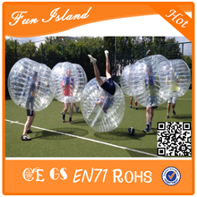 Free Shippng 1.5m PVC Good Quality 0.8mm 6 PCS Bubble Football,Inflatable Bubble Ball Suit, Zorb Ball, Bubble Soccer