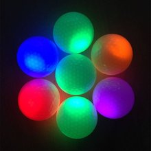 Golf Ball Bright Flash LED Electronic Flashing For Night Exercise - great gift for golfer, also good home decoration disco party(China)