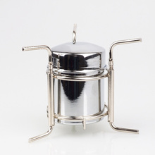 Brand stainless Steel Portable Mini Ultra-light spirit Alcohol Stove Outdoor Camping Stove  alcohol one-piece stove