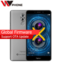 Original Huawei Honor 6X 3G RAM 32G ROM LTE Mobile Phone 5.5 inch 1920x1080P Android 7.0 Octa Core Dual Rear Camera Fingerprint