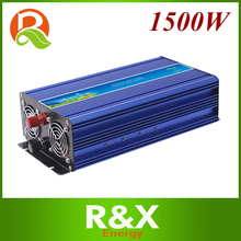 1500W pure sine wave power inverter off grid wind/solar inverter. 12/24/48/ DC to 100/110/120/220/230/240V AC(China)