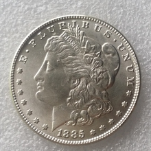 New Style 90% Silver 1885-CC Morgan Dollar Silver Shiny Cartwheel Copy Coin(China)