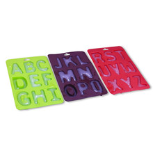 3pcs/set DIY Cake Tool Food-grade Christmas Silicone Chocolate Mold as Jelly & Candy Pudding Mould with Alphabet/Letters #615(China)