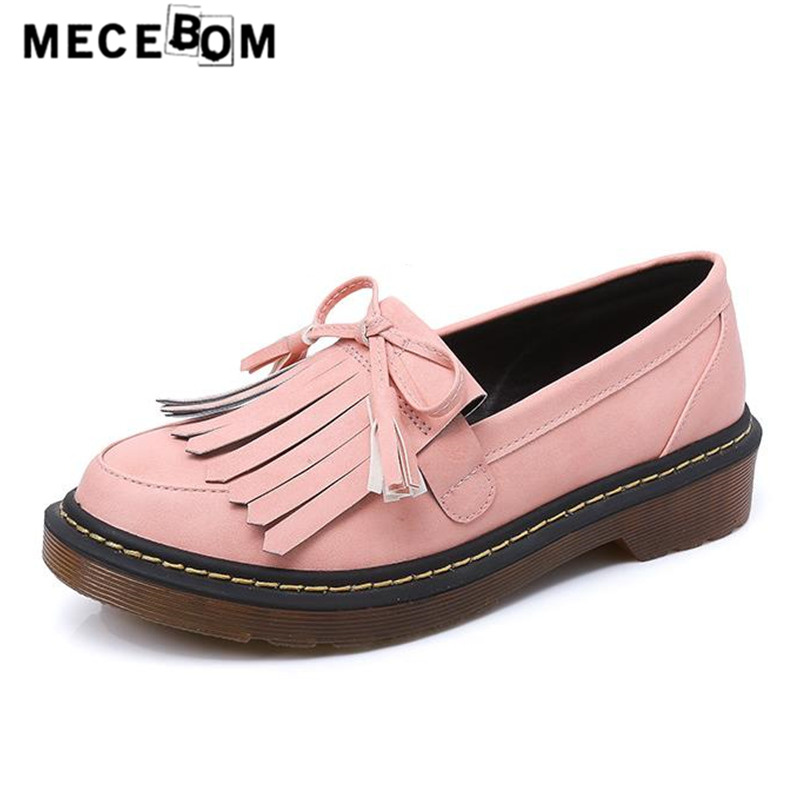 Womens leather shoes fashion fringe loafers flats slip-on platform ladies single shoes sapato feminino big size 35-43 17w<br>