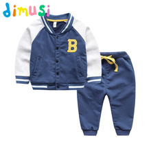 DIMUSI boys 100% Cotton suit long sleeves suit Boy's set kids cartoon set unisex spring suit baby's outwear for children BC062