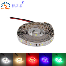 RXR promotion 5m Full set LED Strip light LED Flexible light 3528/2835 tape non waterproof 12V DC 1m/2m/3m/5m/roll set 50cm(China)