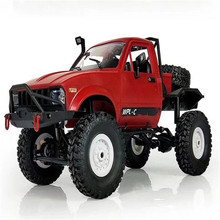 Rock Crawler Truck With Front LED RTR Toys For Children And Adults C-14 1/16 RC Car 2.4G 4WD Off Road RC Military Car(China)