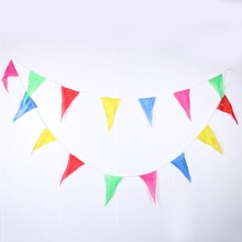 1pc 10m Rainbow Wedding Bunting Flags String Banner Markets Party Birthday Christmas Decoraion christmas banner