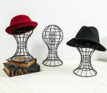 Hat Cap Holder Display Desk Table Stand Rack Hat Holder Display Hat Rack Stand Modern Head Shape Iron(China)