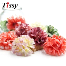 30PCS Silk Artificial Flowers Chrysanthemum Flower Head for Home Wedding Car Decoration DIY Scrapbooking Wreath Fake Flowers(China)