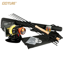 Goture Rod Combos 5/6 7/8 Fly Fishing Rod Reel Line Lure 100FT Weight Forward Main Line Backing/Leader Line +Tippet(China)