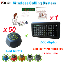 Table call ordering system 50 buttons 1 monitor used in the coffee house wireless equipment(China)