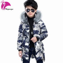 Baby Boys Winter Jackets Children Down Parkas 6-15Y Children's Hooded Coats Kids Down Jacket Cold Winter Outwear Fur Collar