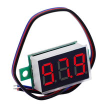 100pcs/lot 0.36 inch LCD DC 0-200V Red LED Panel Meter Digital Voltmeter 3 wires 3 bits Voltage Meters 39%off(China)