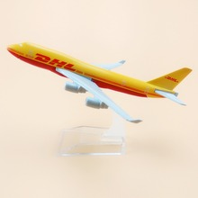 Air DHL Airlines Boeing 747 B747 400 Airways Plane Model Airplane 16cm Alloy Metal Model w Stand Aircraft  Gift