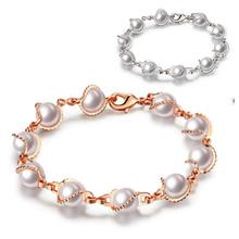 Imitation Pearl Bracelet Fashion Chains Bracelets For Women Girl Charm Pearls Bangle Bracelet Jewelry Accessory Y4