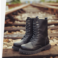 The new combat boots really Pima Ding boots male boots male British style autumn boots large size men 39-472601