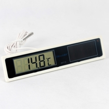 DST-12 Solar Cell Digital Thermometer with Probe for refrigerator and display cabinet