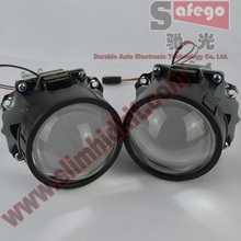 1 pair hid projector lens h1 xenon blub 2.5 inch motorcycle projector headlight bi xenon projector wholesale(China)