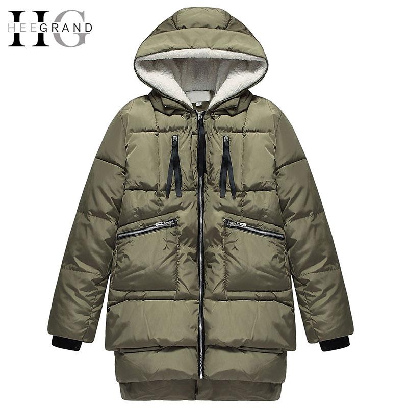 HEE GRAND 2017 Winter Thick Cotton Mulheres Casaco De Inverno Black Cotton Long Coats Hooded Women Parkas Plus Size 3XL WWM1457Одежда и ак�е��уары<br><br><br>Aliexpress