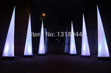 High quality beautiful inflatable cone lighting with dots/ inflatable cone pillar/ inflatable lighting decorations