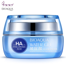 BIOAQUA Hyaluronic Acid day creams & moisturizers Replenishment Cream face skin care Whitening skin HA anti aging anti wrinkles(China)