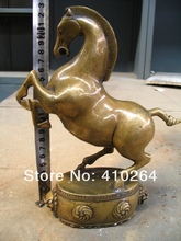 FREE SHIPPING [Nice Discount ] 22 cm horse on Drum bronze statue