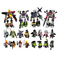 4pcs/lot Transformation Robot toy 4 in 1 for building 4 pcs large Car Robot  figure
