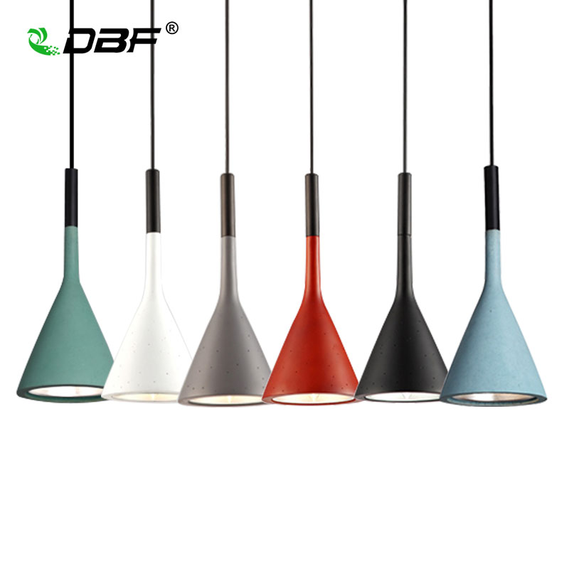 [DBF]Modern LED Pendant Light Foyer Dining Room Light Modern Pendant Light Hanging Lamp Loft Bar Beat Cement Pendant+E14 Holder<br>