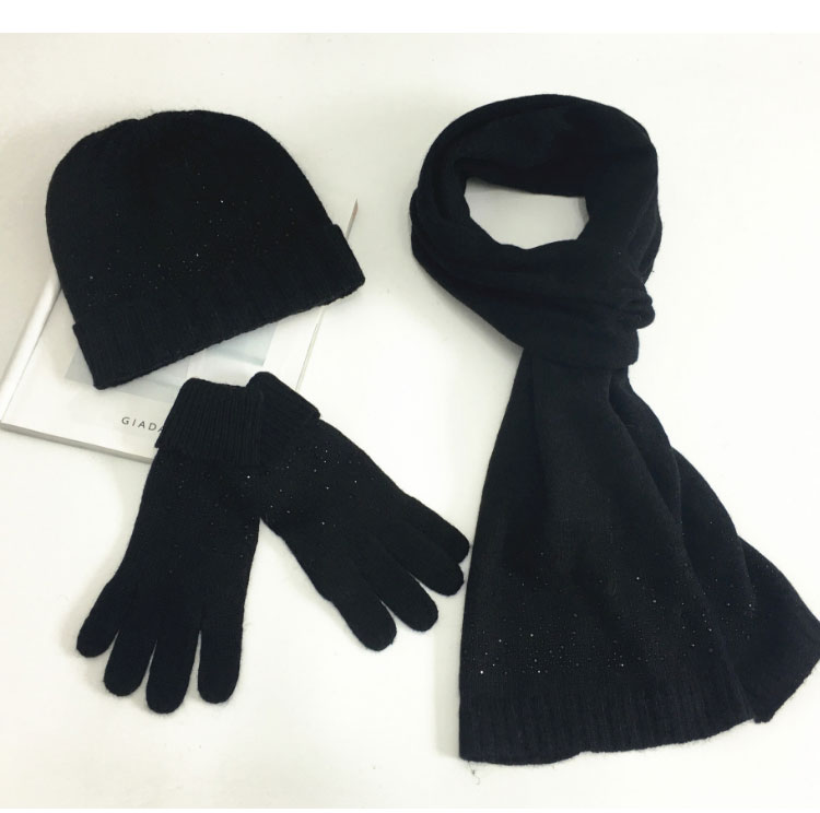 hat scarf set  Scarf, Hat & Glove Sets knitted  winter hat and scarf woman with diamond  (17)