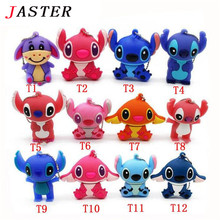 JASTER Lovely mini Stitch  USB Flash Drive Pen drive Gift  Animal cartoon pendrive 4GB/8GB/16GB/32GB memory stick