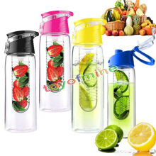 800ML Sports Fruit Infusing Infuser Water Bottle Lemon Juice Health Bottle Flip Bicycle Health Eco-Friendly BPA Detox Bottle Fli
