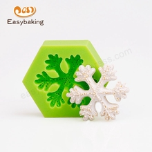3D Snowflake Christmas Silicone Fondant Mold Cake Decorating Tools For Candy Chocolate Soap Clay Fimo Resin(China)