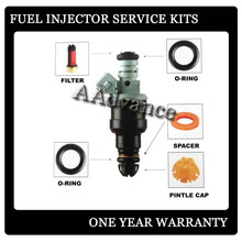 Free Shipping! Fuel Injector Injection Service Repair Kits O-Rings Caps,Fuel Injector Rebuild Kit Filter Basket,Lower Spacer