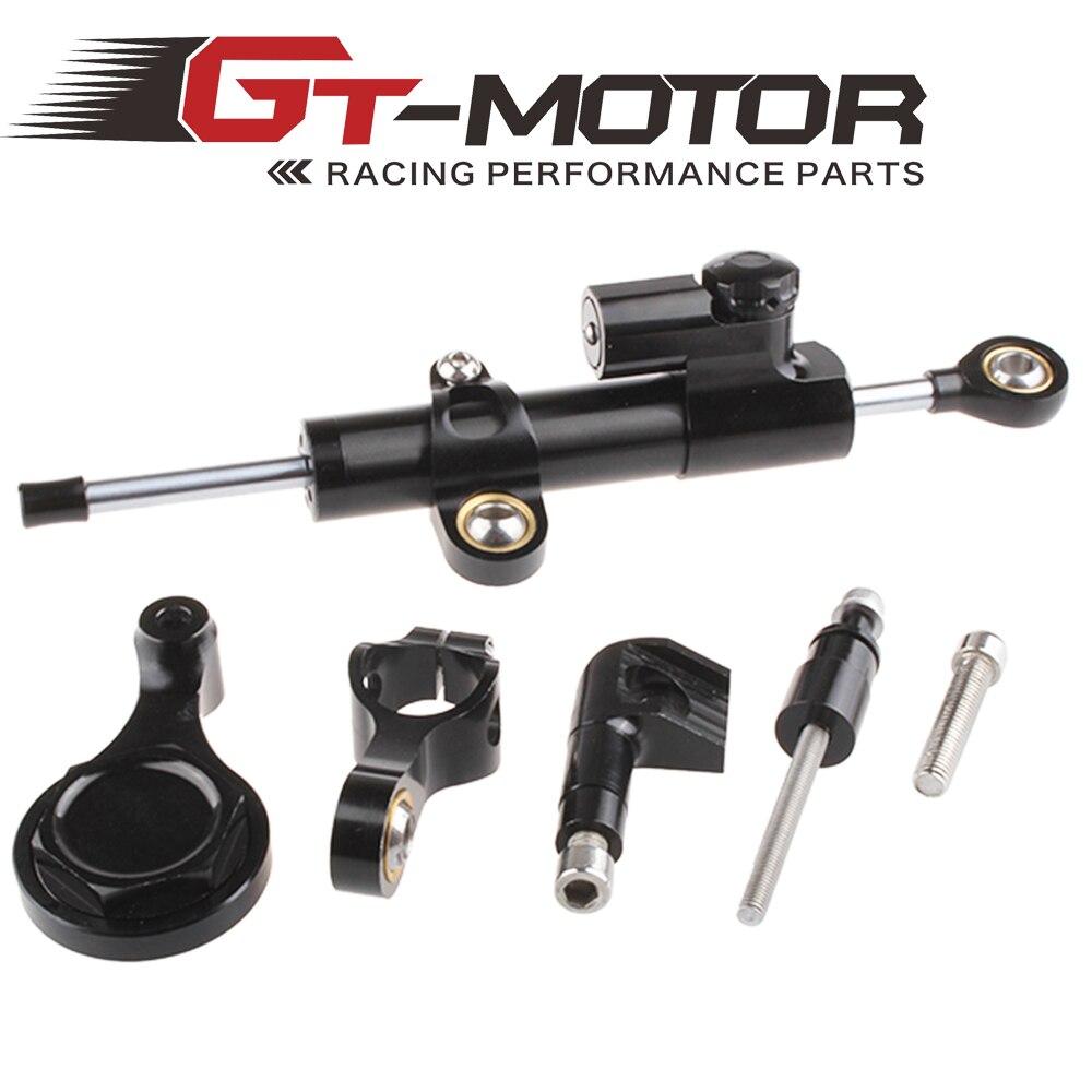 GT Motor - CNC Steering Damper complete Set for YAMAHA YZF R1 2006-2015 w/ bracket kit<br>
