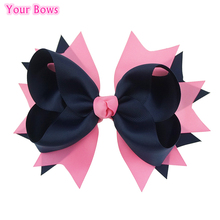 Buy Bows 1PC 8 Inches Big Grosgrain Ribbon Hair Bows Girls Hair Clips Cheerleading Bows Girls Hair Accessories for $2.27 in AliExpress store