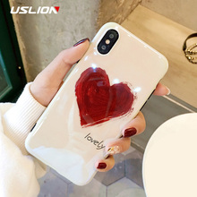 Buy USLION Cartoon Flamingo Phone Case iPhone 7 Plus Graffiti Love Heart Cases iPhone X 8 7 6S Plus Soft Silicon Cover Coque for $2.39 in AliExpress store