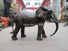 "18""Chinese Art Bronze sculpture African elephant King of forest mammal Statue(China)"