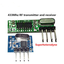 1 Set superheterodyne 433Mhz RF transmitter and receiver Module kit small size For Arduino uno Diy kits 433 mhz Remote controls