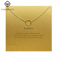 karma Double chain Circle necklace alloy Pendant necklace Clavicle Chains Statement Necklace Women FOMALHAUT Jewelry