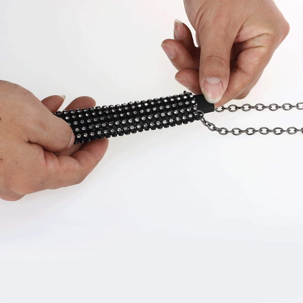 DP0901B women crystals pendant necklace designed for Juul Vape e cigarette pouch  (9)