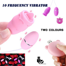 Buy Mini 10 frequency girl masturbating tongue licking vaginal vibration massage g-spot Clitoris Orgasm constantly Remote control