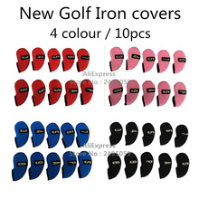 OEM/ODM Wholesale Colourful Golf Iron Covers with number tag golf equipment headcover for any brand golf iron club 10pcs/set