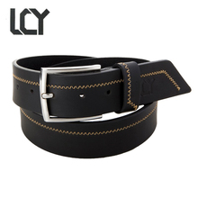 [LCY] Newest Designer Belts Men High Quality Leather Belt for Men Casual Design Cowboy Metal Pin Buckle ceintures homme 400135(China)
