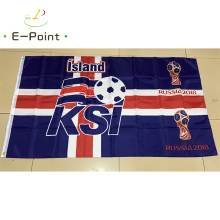 2018 Russia Football World Cup Iceland National Team 3ft*5ft (90*150cm) Size Decoration Flag Banner