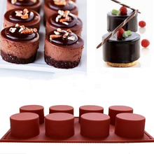 8 Holes Silicone Round Cake Mold Cupcake Jelly Pudding Ice Cube Mould Muffin Soap Molds Baking Cake Tools(China)