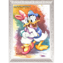 Diy diamond painting cross stitch kit full square crystal mosaic drill rhinestones home Decoration picture cartoon donald duck(China)